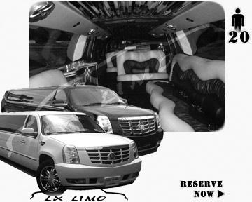 Cadillac Escalade 20 passenger SUV Limousine for rental in Boston, MA