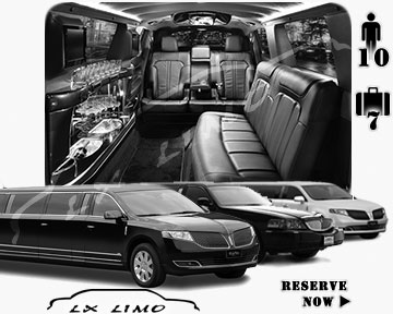 Stretch Limo airport shuttle in Boston